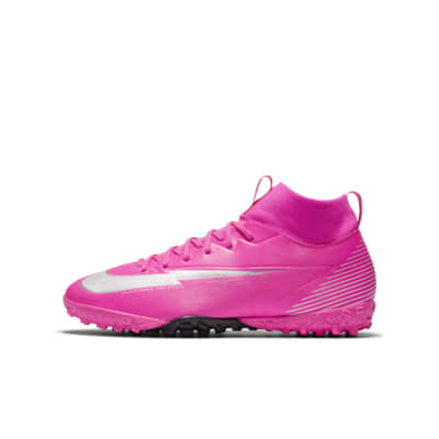 Nike Jr Mercurial Superfly 7 Academy Mbappé Rosa TF Younger and Older Kids' Artificial-Turf Football Shoe