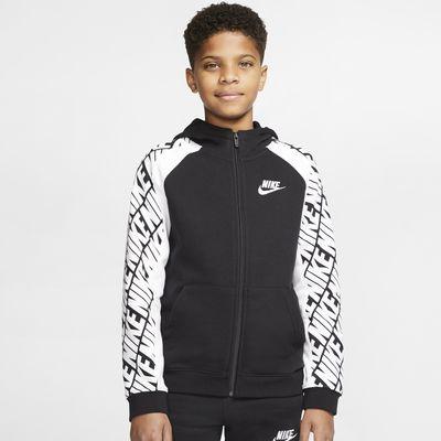 Felpa in French Terry con cappuccio e zip a tutta lunghezza Nike Sportswear - Ragazzo