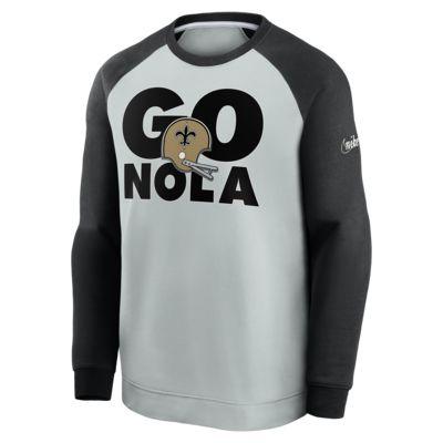 Nike Historic Raglan (NFL Saints) Men's Sweatshirt