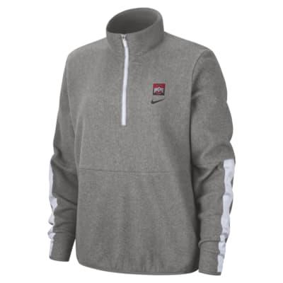 Nike College Therma (Ohio State) Women's Long-Sleeve 1/2-Zip Fleece