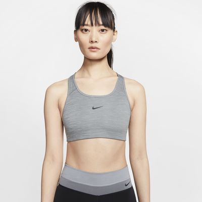 Dámská sportovní podprsenka Nike Swoosh se střední oporou a jednodílnou vycpávkou