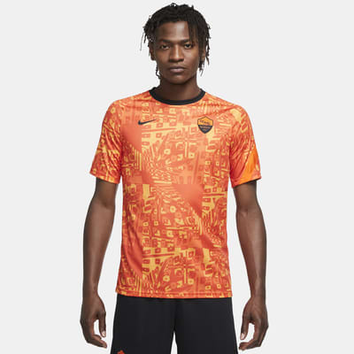 AS Roma Men's Pre-Match Short-Sleeve Football Top