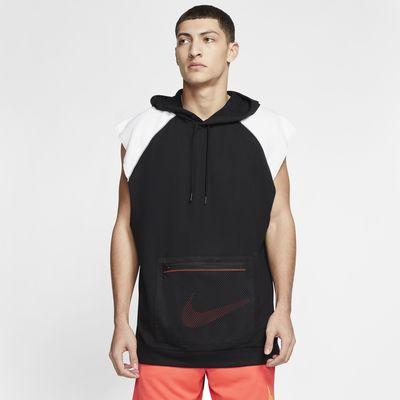 Pánská flísová tréninková mikina Nike Dri-FIT skapucí a bez rukávů