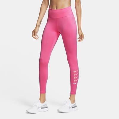 Женские слегка укороченные тайтсы для бега Nike Swoosh Run