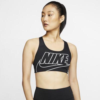 Nike Swoosh Women's Medium-Support Non-Padded Logo Sports Bra