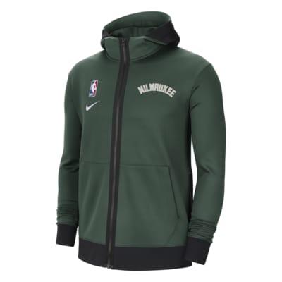 Milwaukee Bucks Showtime Nike Therma Flex NBA-hættetrøje til mænd