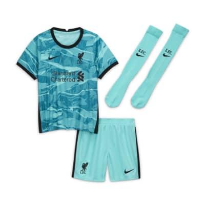 Футбольный комплект для дошкольников с символикой выездной формы ФК «Ливерпуль» 2020/21