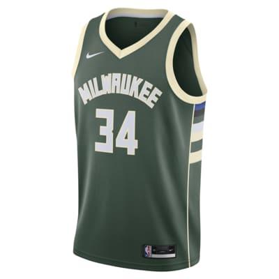 Giannis Antetokounmpo Bucks Icon Edition 2020 Nike NBA Swingman Jersey