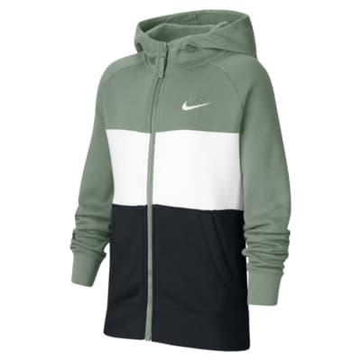 Nike Air-hættetrøje med lynlås til store børn (drenge)
