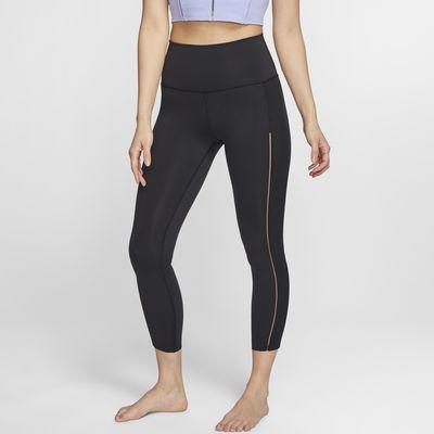 กางเกงรัดรูปผู้หญิง 7/8 ส่วนขาจั๊มพ์ Infinalon Nike Yoga Luxe