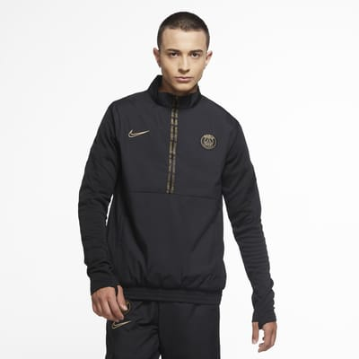 Paris Saint-Germain Men's 1/2-Zip Woven Football Tracksuit Jacket