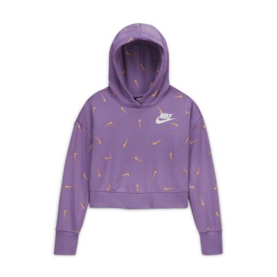 Nike Sportswear Older Kids' (Girls') Cropped Pullover Hoodie
