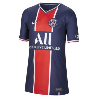 เสื้อแข่งฟุตบอลเด็กโต Paris Saint-Germain 2020/2021 Stadium Home