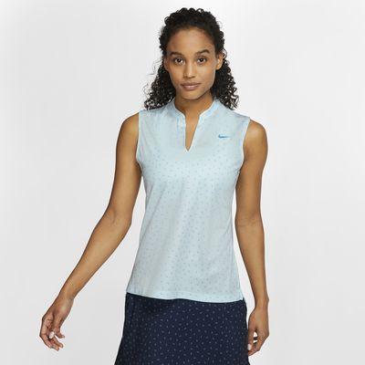 Polo da golf stampata senza maniche Nike Dri-FIT Victory - Donna
