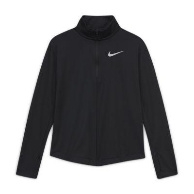 Nike Parte de arriba de manga larga con media cremallera de running - Niña