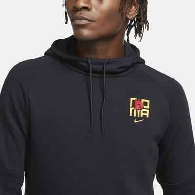 Sweat à capuche de football en tissu Fleece A.S. Rome pour Homme