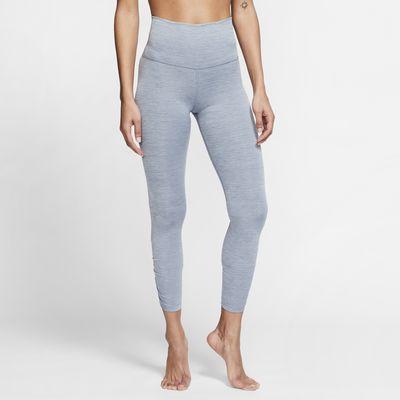 Nike Yoga-7/8-rynkede-tights til kvinder