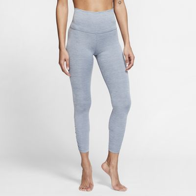 Nike Yoga geraffte 7/8-Tights für Damen