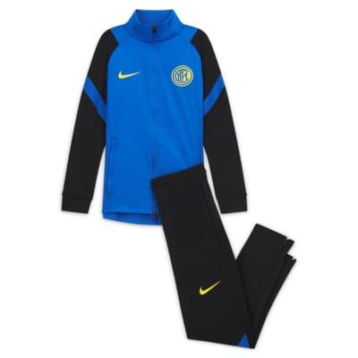 Inter Milan Strike fotballtracksuit til store barn