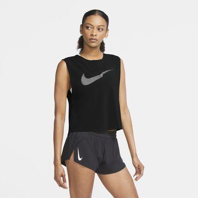 Dámské běžecké tílko Nike Run Division s plisováním