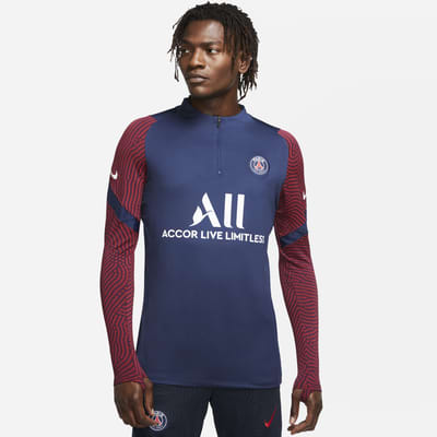 Paris Saint-Germain Strike Men's Football Drill Top