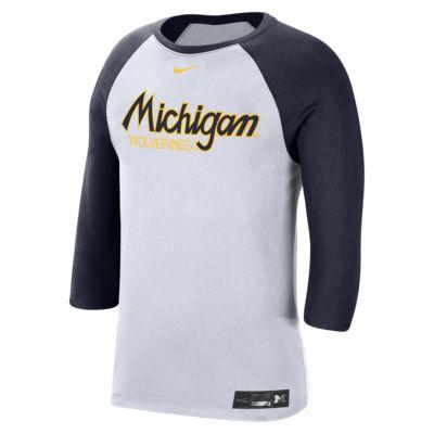 Nike College Dri-FIT (Michigan) Men's 3/4-Sleeve T-Shirt