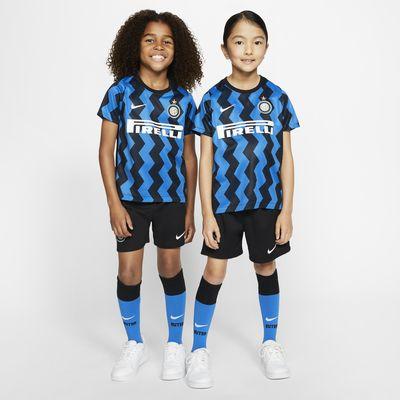 Equipamento de futebol principal Inter de Milão 2020/21 para criança