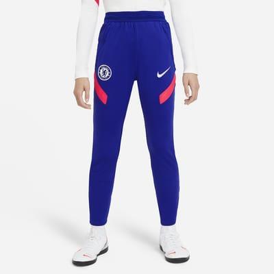 Maskinstrikkede Chelsea FC Strike-fodboldbukser til mænd