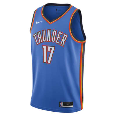 Camiseta Nike NBA Swingman Dennis Schröder Thunder Icon Edition 2020