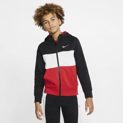 Nike Air 大童(男孩)全长拉链开襟连帽衫