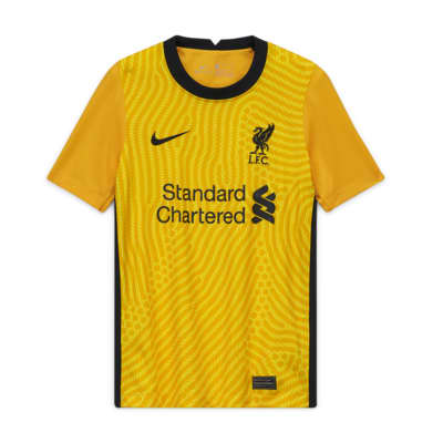 Liverpool F.C. Stadium Goalkeeper Older Kids' Football Shirt