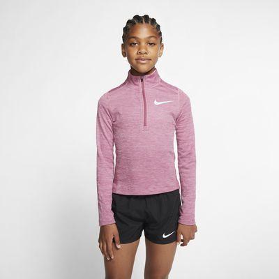 Nike Samarreta de màniga llarga i mitja cremallera de running - Nena