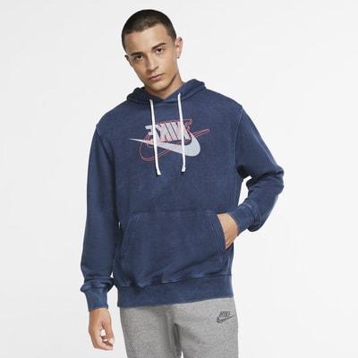 Nike Sportswear frottéhettegenser til herre