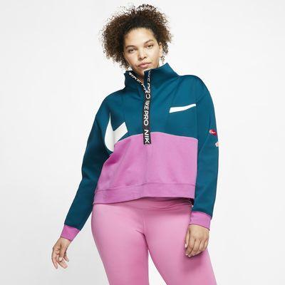 Nike Pro Get Fit Fleece-Oberteil für Damen (große Größe)