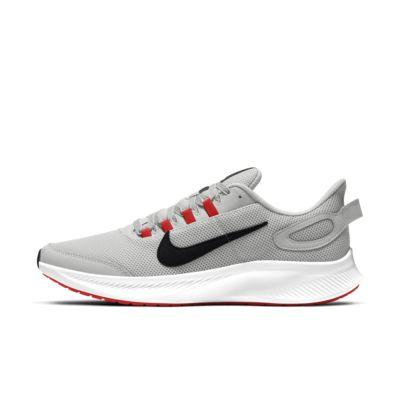 grey nike running shoes