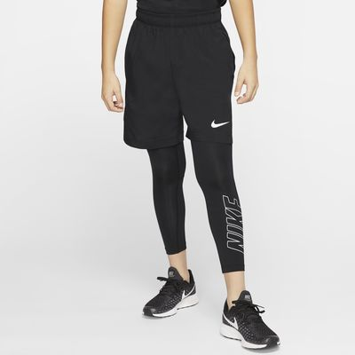 Mallas de entrenamiento con gráficos con largo de 3/4 para niño talla grande Nike