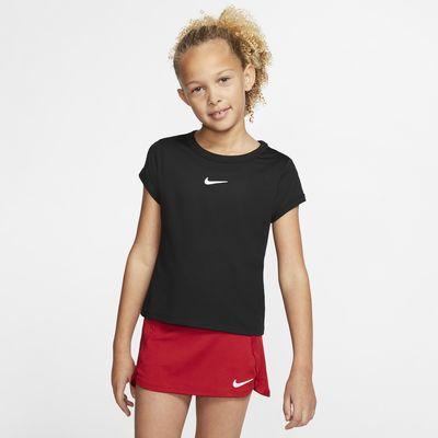 NikeCourt Dri-FIT Mädchen-Tennisoberteil