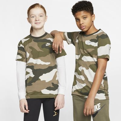 Nike Sportswear Big Kids' Camo T-Shirt