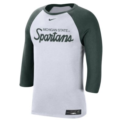 Nike College Dri-FIT (Michigan State) Men's 3/4-Sleeve T-Shirt
