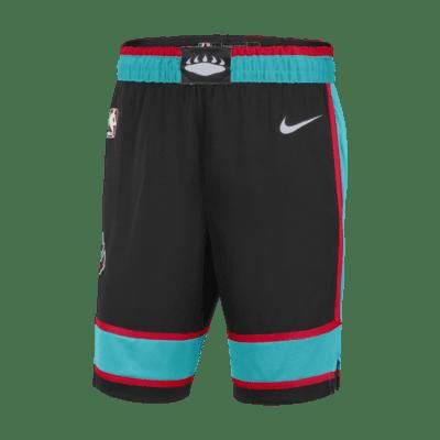 Memphis Grizzlies Herren Basketball Shorts Stitched City Edition Schwarz