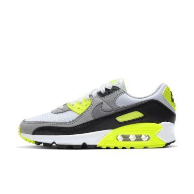 Nike Air Max 90 shoes white neon yellow