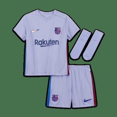 F C Barcelona 2021 22 Away Baby Amp Toddler Football Kit Nike Lu