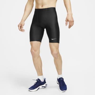 กางเกงวิ่งรัดรูปผู้ชายยาว 1/2 ส่วน Nike Fast