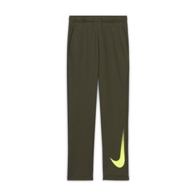 Pantalones de tejido Fleece con gráfico para niños talla grande Nike Dri-FIT