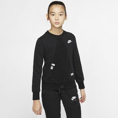 Långärmad tröja Nike Sportswear Heritage för ungdom (tjejer)