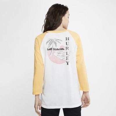 Hurley Paia Circle 3/4-Ärmel-T-Shirt für Damen