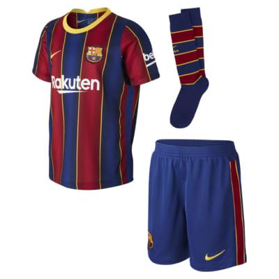 Equipamento de futebol FC Barcelona 2020/21 Home para criança