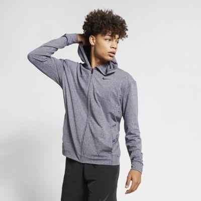 Träningshuvtröja för yoga med hel dragkedja Nike Dri-FIT för män