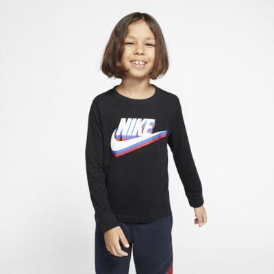 Playera de manga larga para niños talla pequeña Nike Sportswear