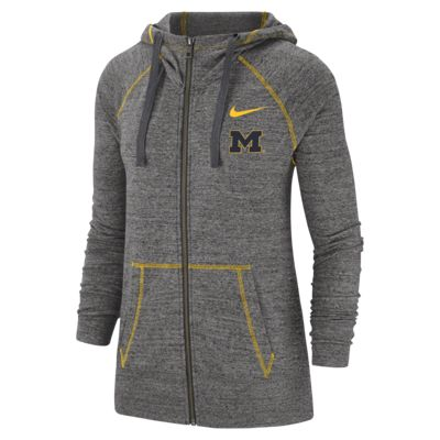 Nike College Gym Vintage (Michigan) Women's Full-Zip Hoodie